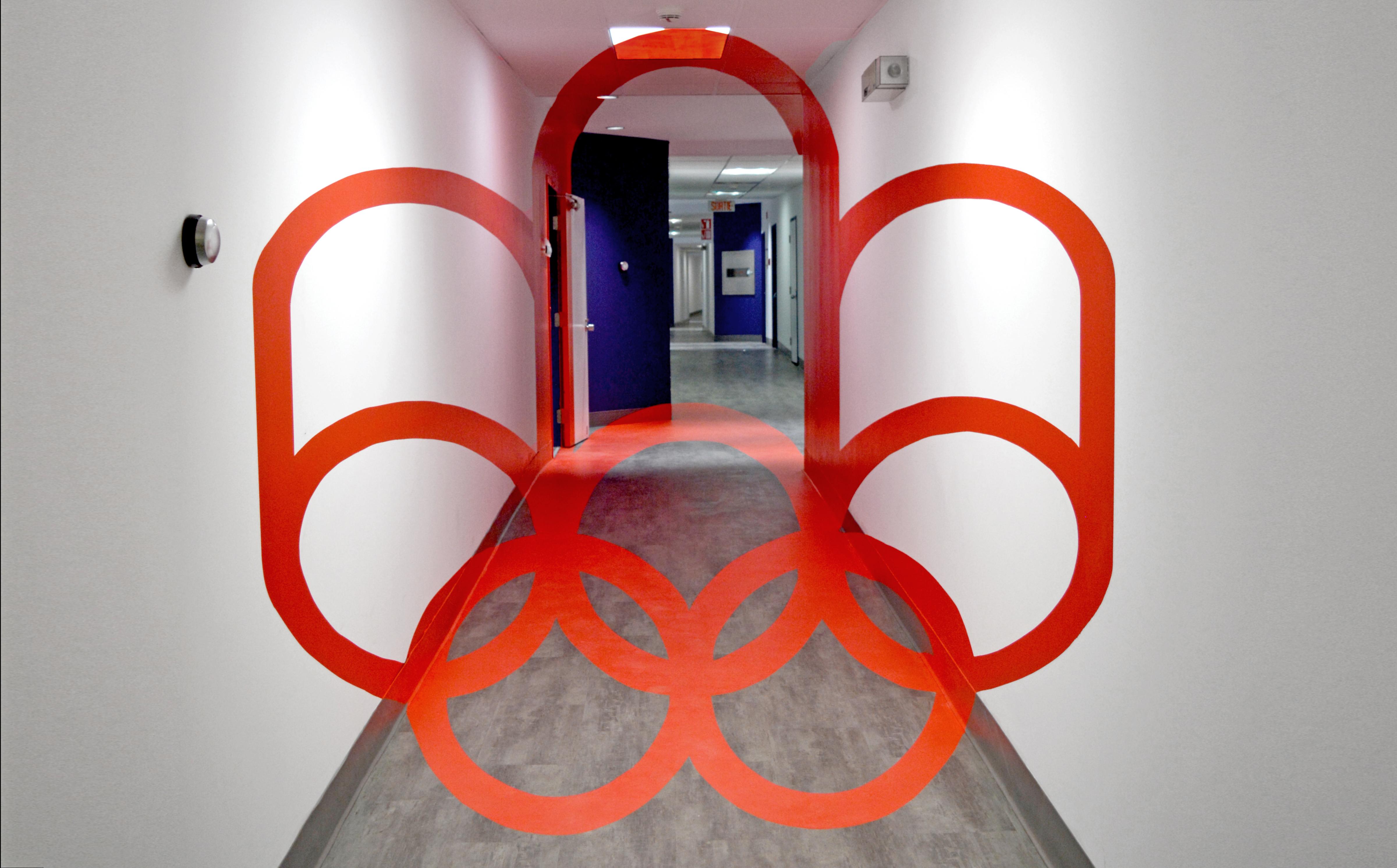 Habillage des bureaux administratif du Parc olympique