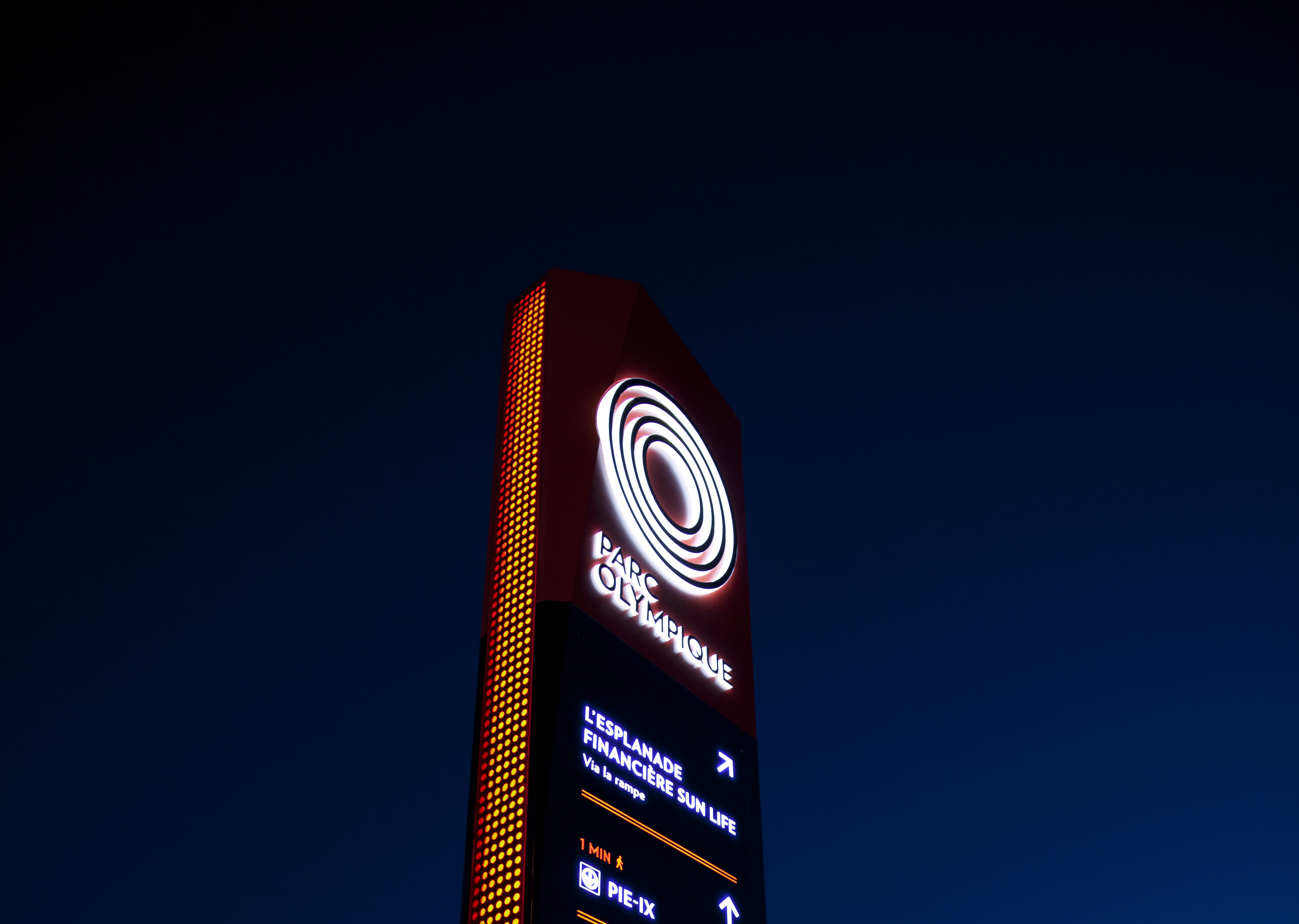 Parc olympique — Signalisation