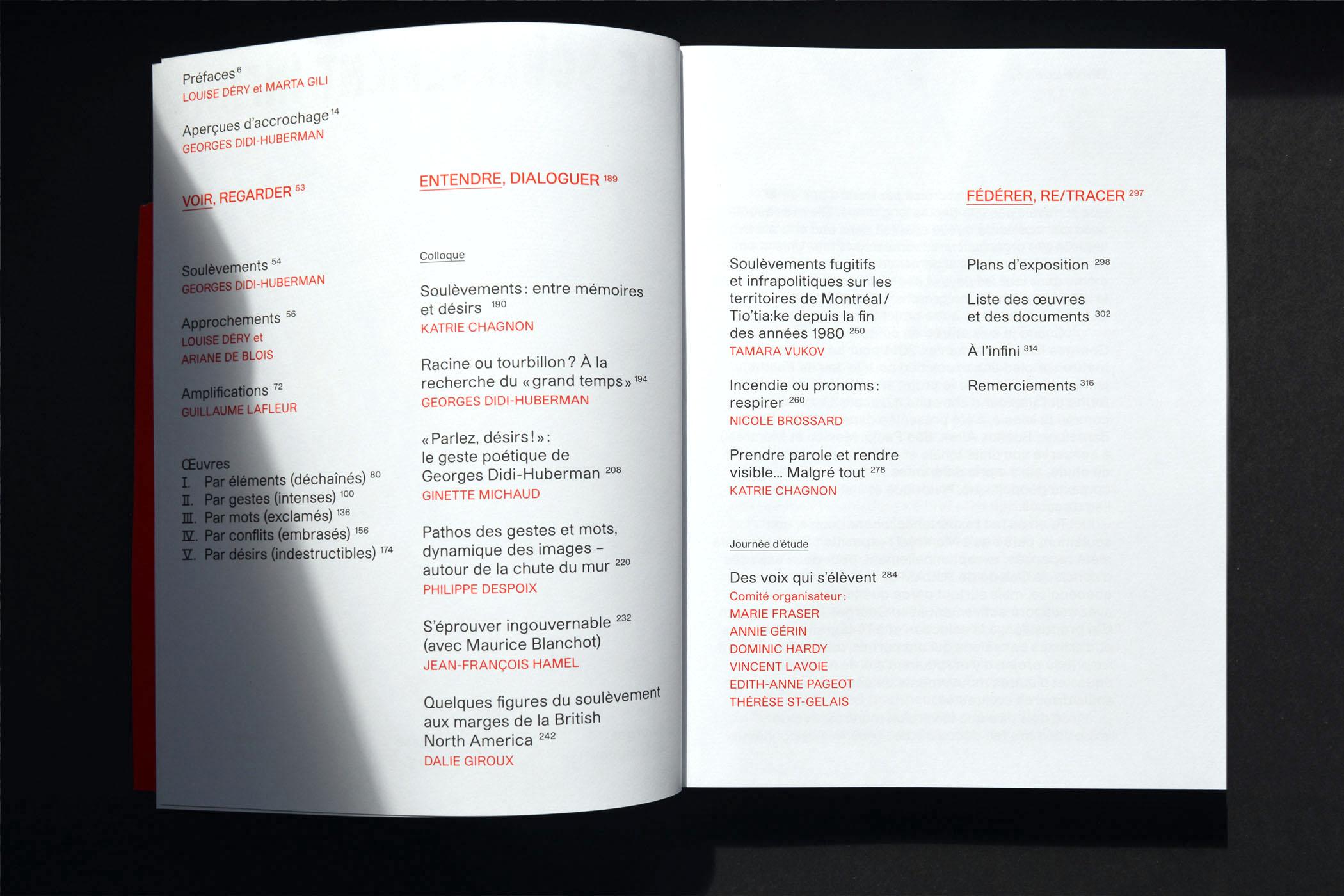 Le soulèvement infini_Marc-André Roy_Louise Déry_Georges Didi-Huberman_Galerie de l'UQAM